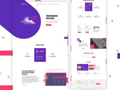 Minimal Landing page concept