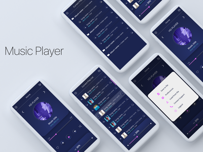 Music Player xd music app music player app mobile ui