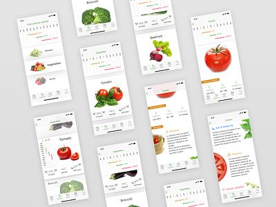 App for planting vegetables vegetables app ui ios web mobile app xd web design ui