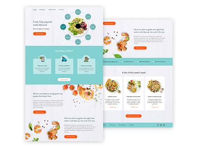 Food Order and Delivery Website Design website web landing page food lending xd web design ui