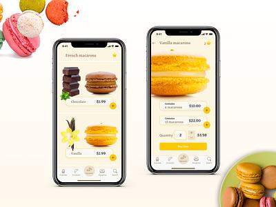 E-Commerce app/ Daily UI Challange #012 ecommerce macaron e-commerce app food app daily ui 012 design web app mobile daily ui challenge xd web design ui