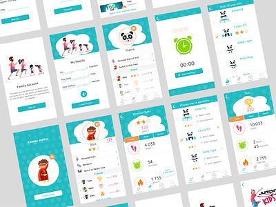 App for children and their parents mobile e-commerce app illustration app ui app web xd ui