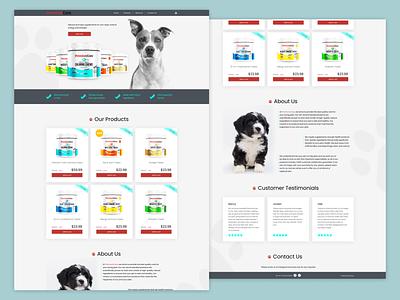 Premium Care dog supplements website e-commerce app web web design ui xd