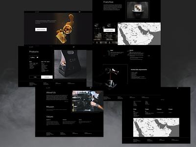 Website of the СAF coffee shop chain web xd product e-comerce coffee design web design ui