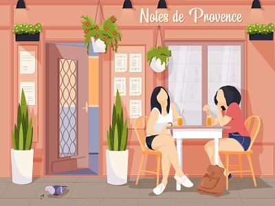 Cafe spring color coffe art hero flat artist character vector illustrator illustration design cafe