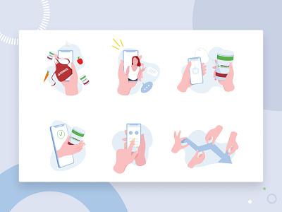 Icons mobile app icons minimal art ui flat artist character vector illustrator illustration design