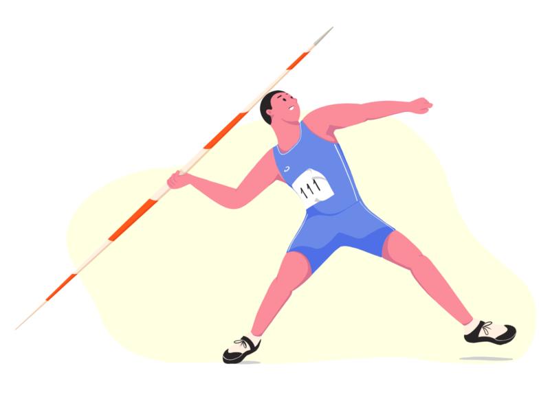 athlete athletes olympic sport ui art artist flat character vector illustrator illustration