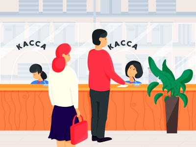 Bank office work bank art hero ui artist flat character vector illustrator illustration design