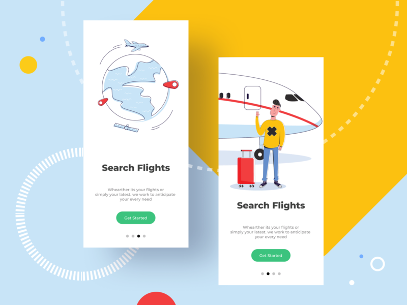 Airlines plant air planet app characters art web minimal hero ui artist flat character vector illustrator illustration design airlines