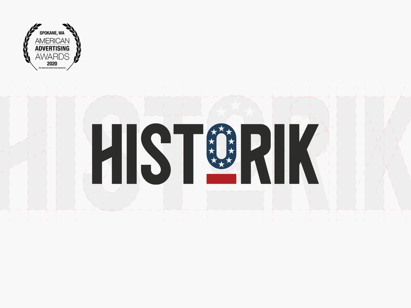Historik Logo 2020 ADDY Award usa america branding addy award award addy app mark identity logo history historik crooz media