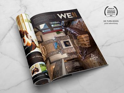 Apsen Homes Magazine Ad - ADDY Award print print collateral marketing crooz media aspen homes magazine ad magazine