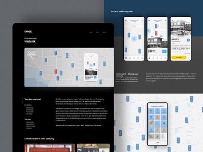 Portfolio Site - Historik Works Page website portfolio web design dark theme light crooz media historik personal web interface
