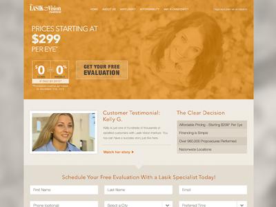 Lasik Fall Lander lasik vision fall lander site website fields form orange promotional marketing