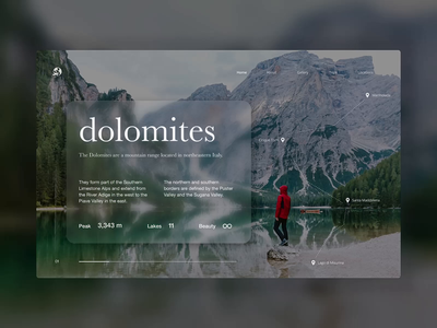 Travel Agency Rebound - Dolomites landscape agency travel agency travel ux design ui ux interaction design ui design interaction website design website web rebound dolomites