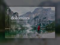 Travel Agency Rebound - Dolomites landscape agency travel agency travel ux design ui ux interaction design ui design interaction website design website web rebound dolomites