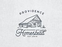 Providence Homestead Identity provider magnolia blue rustic vintage mark brand logo identity homestead providence