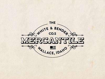 White & Bender Mercantile - Identity storefront store timeless old 1900s 1800s antique vintage mercantile logo identity