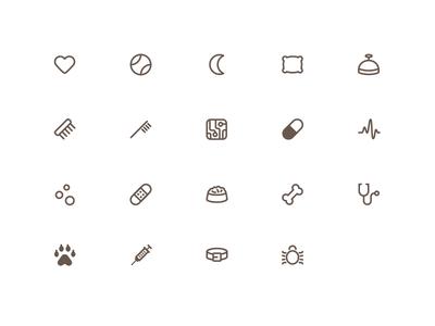 CamCare: Pet-Care Icon Set