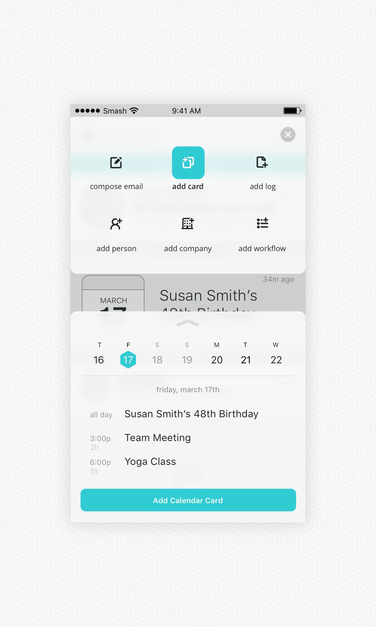Sm app calendar wireframe detail