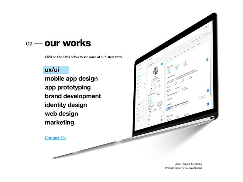 Crooz.Media Website Teaser Design behind the scenes sketch marketing works crooz.media media crooz web site splash teaser website