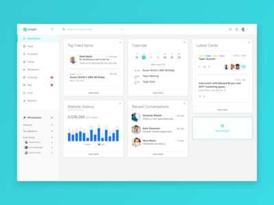 Smash CRM - Dashboard Interface