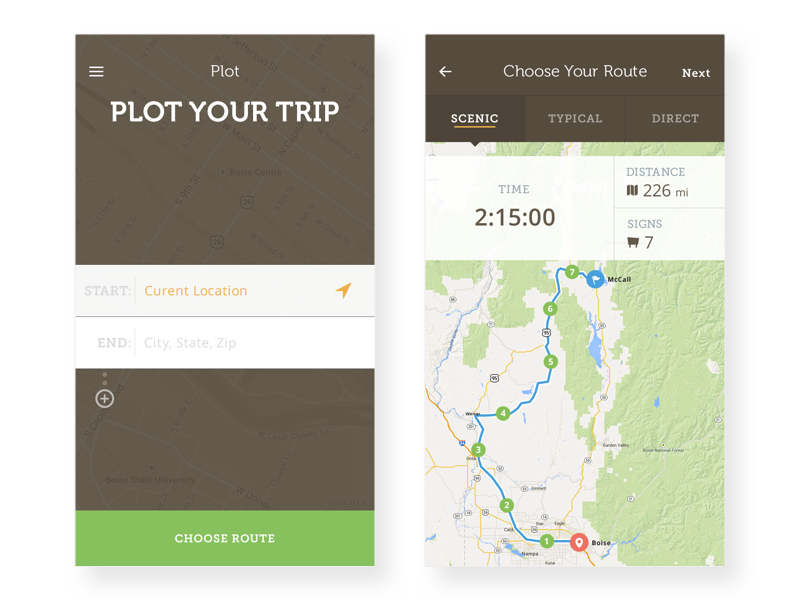 Scenic Viewer - Plot Your Trip trip plot travel history gps scenic route drive map crooz media scenic viewer