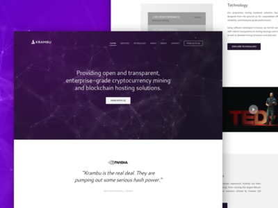 Krambu Crypto Mining - Website Wireframe