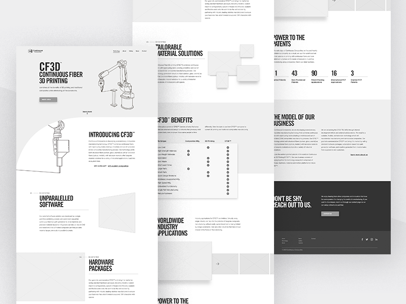 Continuous Composites Website v2 - Technology Wireframing blocking wireframe wireframing grid technology web 2.0 website