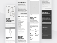 Continuous Composites Website v2 - Tech Mobile Wireframing