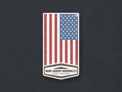 Vintage American Pride Sticker - Vertical Layout