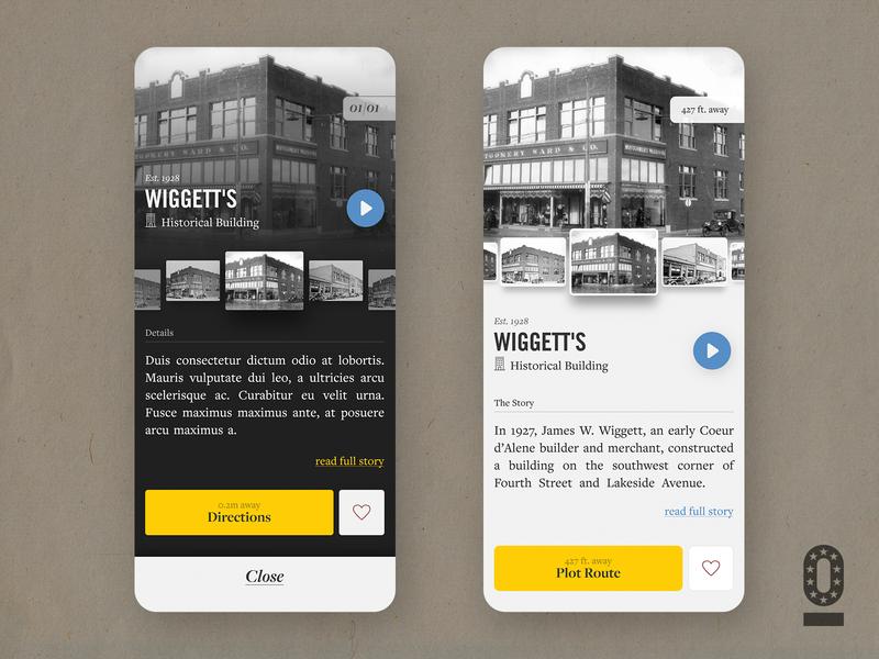 Historik App - WIP Dark or Light concept ui ux interface crooz media lights screen history design mobile app historik dark light