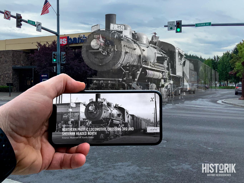 Historik - Hidden History Feature historic history hidden history train app overlay mobile augmented reality behistorik histork