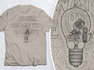 Change the Way You Create - Shirt Illustration