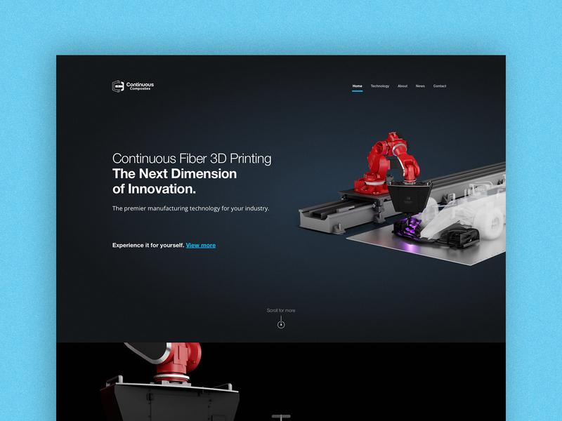 Continuous Composites Website - Home Page Design