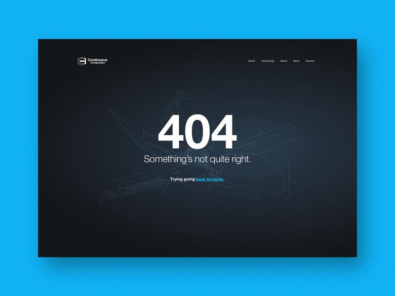 Continuous Composites Website - 404 Page web page website illustration patent 3d 3d printing error 404 continuous cf3d composites continuous composites