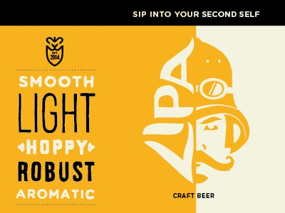 Light IPA ipa second self beer packaging label design adrenaline illustration atlanta craft beer