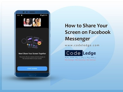 How to Share Your Screen on Facebook Messenger? facebook digital marketing company digital marketing socialmedia