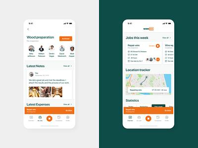 Project Management Mobile App social jobs construction system tracker dashboard work management