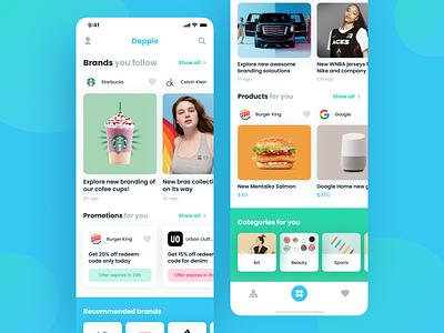 Social App for Brands social feed profile post brand blue dashboard