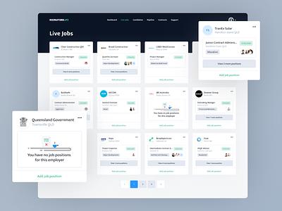 Recruitment Platform recruiters platform freelance management design ui ux dashboard