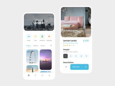 Travel Mobile App london discover card category ux ui mobile app travel
