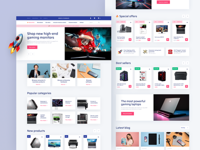 E-Commerce Website buy shop uxdesign uidesign website design web webdesign website ecommerce design ecommerce ui ux design dashboard