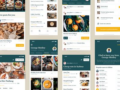 Restaurants Nearby Mobile App bookmark places mobileapp uiux app interesting discover visit place sharing design ux ui