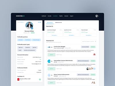 Recruitment Platform Desktop UI recruitment agency websitedesign developers entrepreneurship position job recruiter recruitment dashboard design ux ui