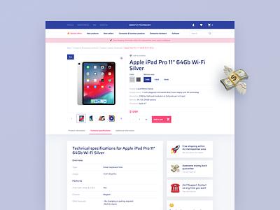 Electronics Retail E-Commerce Website store e-shop uiux website design figma development products tech technology developer e-commerce website design ux ui