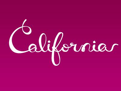Californias script lettering