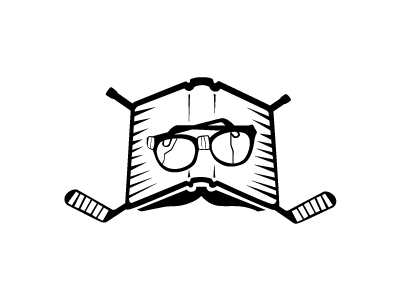 Hockey Reader illustration logo hockey glasses sticks