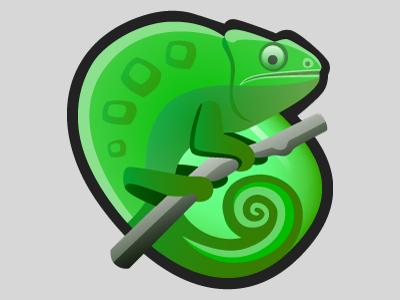 Chameleon chameleon icon