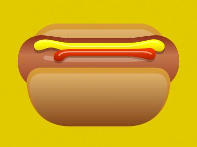 Hot Dog illustration hot dog