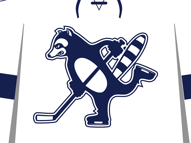 Hockey Sweater Alternate raccoon illustration jersey hockey
